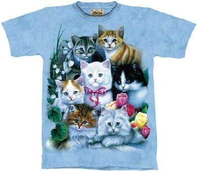 The Mountain Kittens Adult Size L T-Shirt (Blue) front-716067