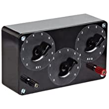 """American Educational 3 Switch Resistance Box, 7"""" Length x 2-1/2"""" Width x 5-1/2"""" Height"""