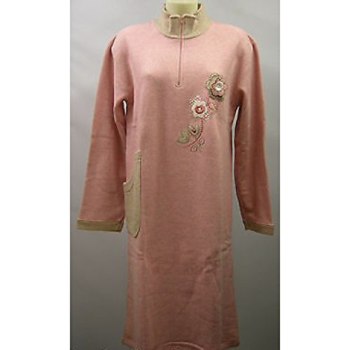 CAMICIA NOTTE DONNA NIGHTGOWN WOMAN CAMISON DOLCI CHICCHE 6416 T.46 ROSA PINK