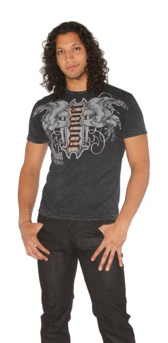 Red Chapter Mens Never Forget Ambigram T Shirt Black Size: Medium