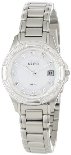Citizen Women's EW2130-51D Silhouette, 31 Diamonds, Eco-Drive Watch