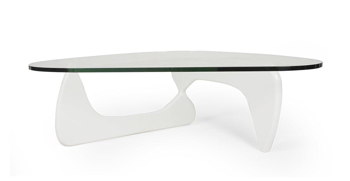 Kardiel 1956 Arch Mid-Century Modern Coffee Table, White Ashwood