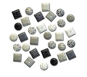 Mini Round and Square Brads - Black