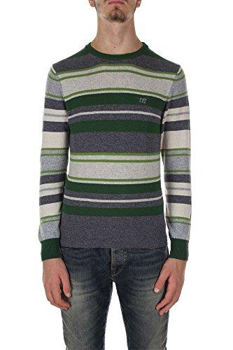 Henry Cottons 42 012 9011401 Maglione Uomo Grigio/verde 3XL
