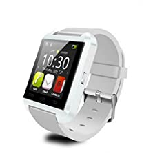 buy Lctech (Tm) U8Pro/Plus V-Watch Bluetooth Fm Smart Wrist Watch Touch Screen Phone Mate For Sim Tf Card Android & Ios Apple Iphone Samsung Htc Smart Phone - White