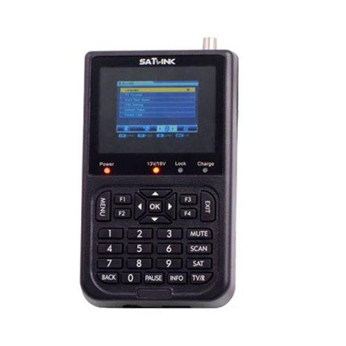 """Satlink - WS-6906 - 3,5"""" LCD DVB-S FTA TFT 8,9cm Satelliten Satfinder Digital Terrestrial Signal Finder / Digitaler Profi Satfinder / SAT-Messgerät - Mit 3000mAh Akku, Netzteil, AV zu Scart Kabel"""