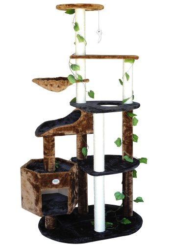 Go Pet Club Cat Tree Furniture, 74-Inch, Black/Brown Go Pet Club B00CQGX7TW
