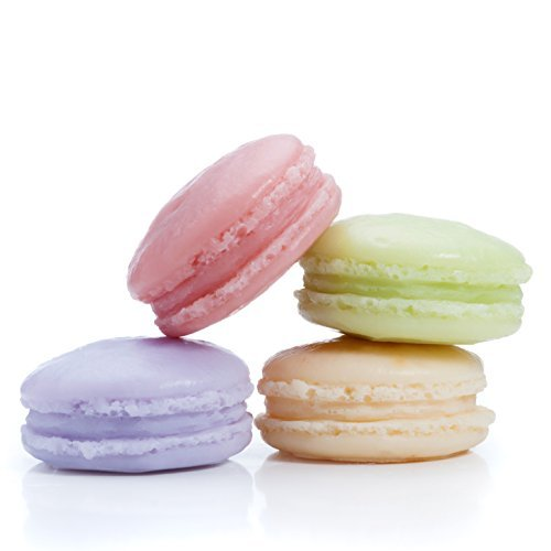Latika Body Essentials: Macaron Soap Gift Set, 4 Natural Soaps by Latika Body Essentials