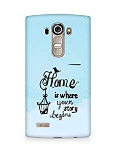 AMEZ home is where your story begins Back Cover For LG G4