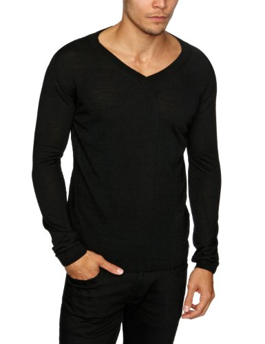 energie Daigo V-Neck Pullover Men's Jumper Black X-Large
