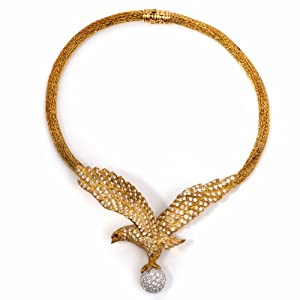 Lalaounis 17.04cts Diamond Eagle 18k Gold Necklace