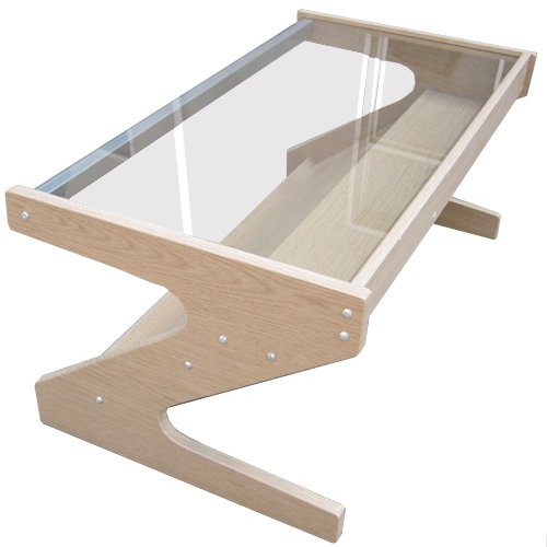 Z - Glass Coffee Table / Tv Unit - White Oak
