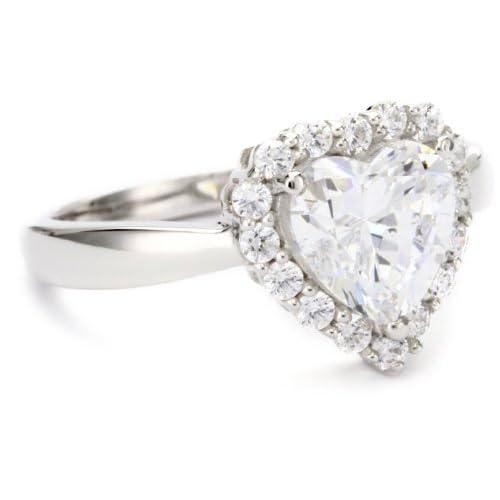 """[マイヤ パッシェロ] Myia Passiello """"Timeless"""" Swarovski Zirconia Heart Shaped Ring サイズ 7 リング 【並行輸入品】"""