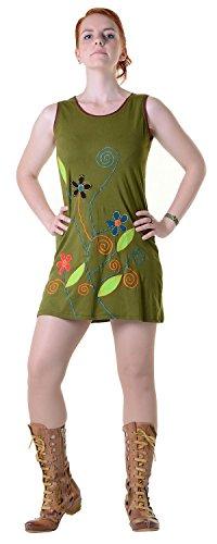 kunst-und-magie-vestito-donna-verde-army-green