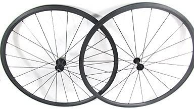 Farsports-700c Road 24mm Full Carbon Clincher Road Bike Wheelset - Red - Campagnolo