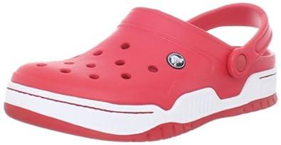 Crocs Men's 14300 Front Court Clog, Red/White, 9 M US