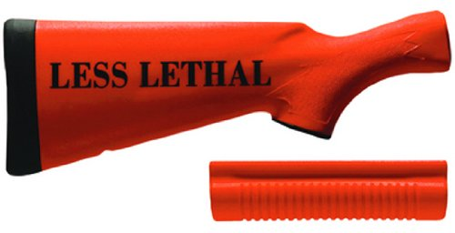 Speedfeed Remington Less Lethal lettering Replacement Stock (Orange,870, 1100, 11-87 12 gauge)