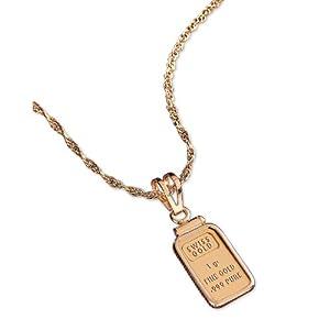 1 Gram Gold Ingot Pendant
