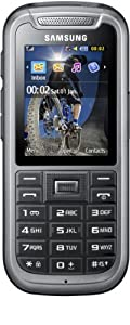 Samsung C3350  Handy (5,6 cm (2,2 Zoll) Display, 2 Megapixel Kamera) steel-gray