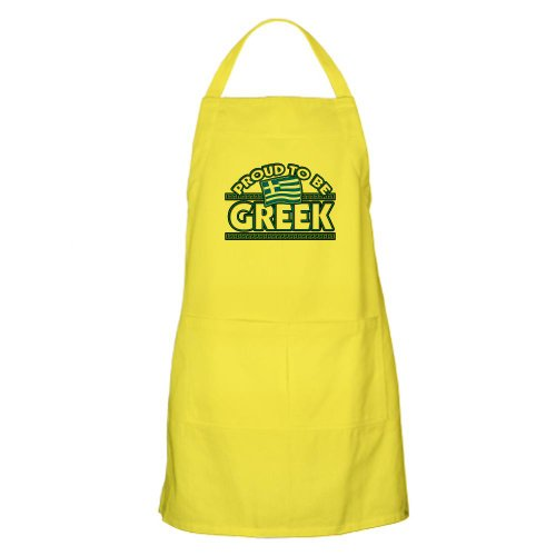 Cafepress Proud To Be Greek Design BBQ Apron - Standard