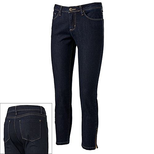 Lee Perfect Fit Just Below the Waist Skinny Ankle Crop Stretch Jeans 10 Empire
