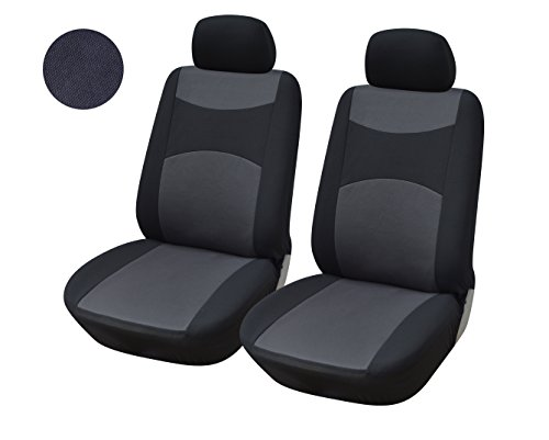 116001 Black-fabric 2 Front Car Seat Covers Compatible To Toyota Tacoma 2017-2007 (Toyota Tacoma Custom Seat Covers compare prices)