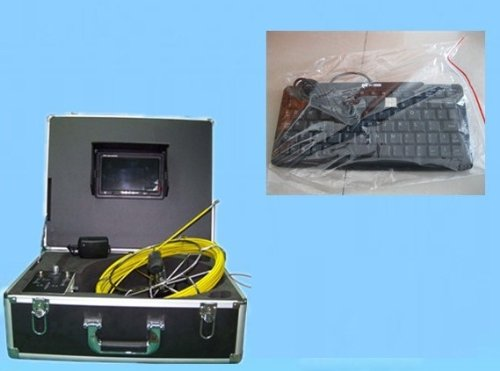 Gowe® Drain Pipe Inspection Camera With Keyboard ,With DVR, 512 Transmitter,40m cable,engineer box TEC-Z710DLK