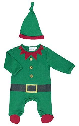 5ba2cc52f Baby Town Christmas Elf Sleepsuit & Hat Set - Age Newborn-6 - 0-3 ...