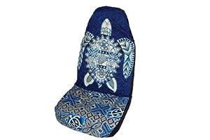 blue honu sea turtle hawaiian car seat covers standard size by winnie fashion. Black Bedroom Furniture Sets. Home Design Ideas
