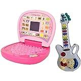 Combo Of English Mini Screen Laptop With Musical Mini Guitar