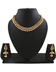 Anuradha Art Golden Finish Classy & Wonderful Look Traditional Necklace Set For Women/Girls