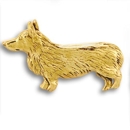 14k Gold Corgi Pin by The Magic Zoo