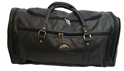 Ultra Strong Large Leather Look Holdall Weekend Travel Bag faux leather