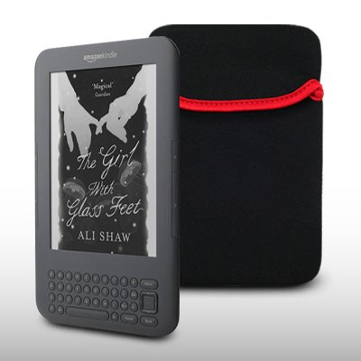 AMAZON KINDLE BLACK NEOPRENE CARRY POUCH CASE BY CELLAPOD CASES