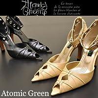 [ アトミックグリーン] Atomic Green オープントゥパンプス アンクルストラップ