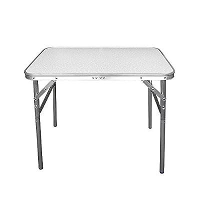Aluminium Klapptisch Campingtisch 75x55cm Gartentisch Beistelltisch Falttisch Picknicktisch Alutisch faltbar und höhenverstellbar von CAMP ACTIVE - Gartenmöbel von Du und Dein Garten