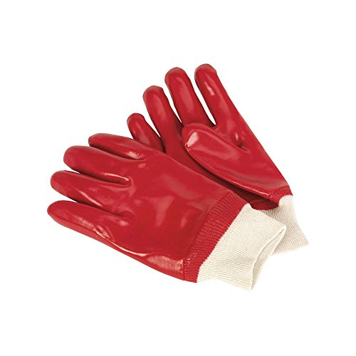 Sealey SSP31D PVC Chemical Handling Gloves Knitted Wrist, Set of 12