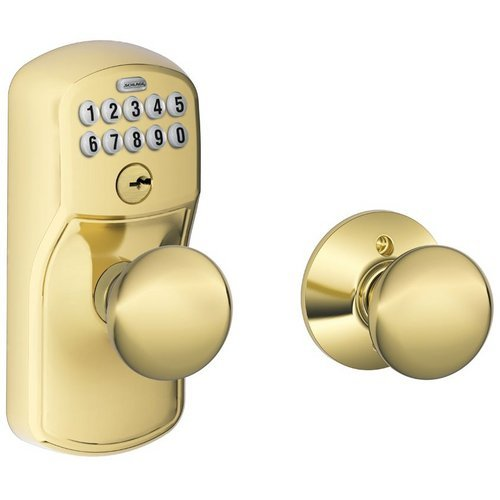 Schlage Fe575-Ply-Ply Plymouth Keypad Entry Auto-Lock Door Knob Set With Plymout