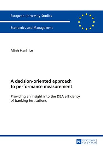A decision-oriented approach to performance measurement: Providing an insight into the DEA efficiency of banking institu