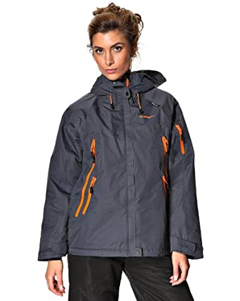 True North Women's Rainbow Duralite Skijakke Medium Dark gray