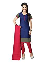 Vaamsi Women's Faux Cotton Salwar Suit Dress Material (Cocp51_Blue_Free Size)