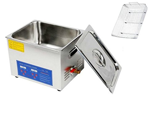 Great Deal Cleaner Heater Timer Bracket Jewelry Lab Glasses Stainless Steel 10 L Ultrasonic