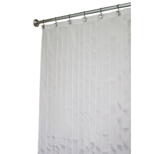 Interdesign Pin Tuck Long Shower Curtain White 72 Inches
