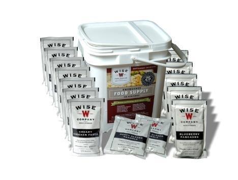 "Wise Food 84 Serving ""Grab and Go"" Bucket - Gourmet Emergency Food Entree and Breakfast"