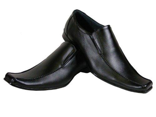 Mens Black Leather Men Work Loafers Dress Shoe Wedding Formal Shoes 7 8 9 10 11