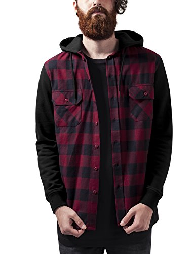 urban-classics-hooded-checked-flanell-sweat-sleeve-shirt-sudadera-para-hombre-mehrfarbig-blk-burgund