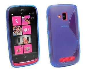 Amazon.com: Kit Me Out US TPU Gel Case for Nokia Lumia 610 - Blue S
