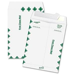 Quality Park Tyvek Open End First-Class 10 x 13 Inch White Envelopes 100 Count (R1590)