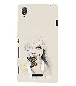 EPICCASE Butterfly Angel Mobile Back Case Cover For Sony Xperia T3 (Designer Case)