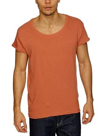 JACK & JONES Herren T-Shirt 12064664 ROBIT SOLID TEE S/S, Gr. 48 (S), Rot (ARAGON)